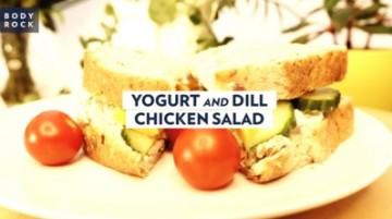 Куриный салат с йогуртом и укропом