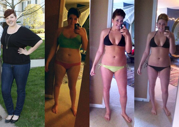 Эта девушка похудела почти на 20 килограмм.