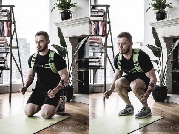 Прыжки с подтягиванием колен к груди.