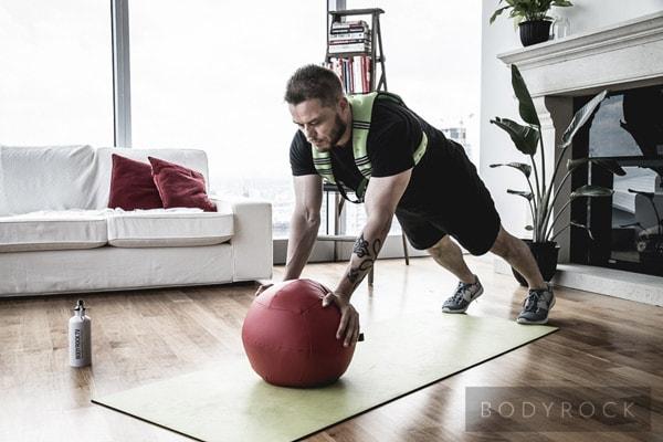 Прыжки с упором на мяче