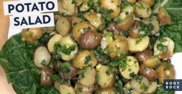 Легкий салат из картошки